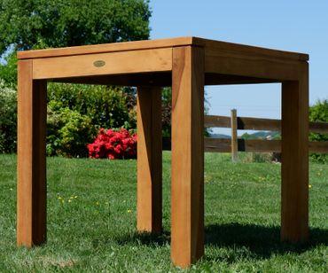 ECHT TEAK Bigfuss Design Gartentisch 80x80 mit 8x8cm dicken Füßen JAV-BIGFUSS80 – Bild 3