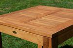 ECHT TEAK Bigfuss Design Gartentisch 80x80 mit 8x8cm dicken Füßen JAV-BIGFUSS80 - Bild 2