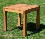 ECHT TEAK Bigfuss Design Gartentisch 80x80 mit 8x8cm dicken Füßen JAV-BIGFUSS80 - Bild 4