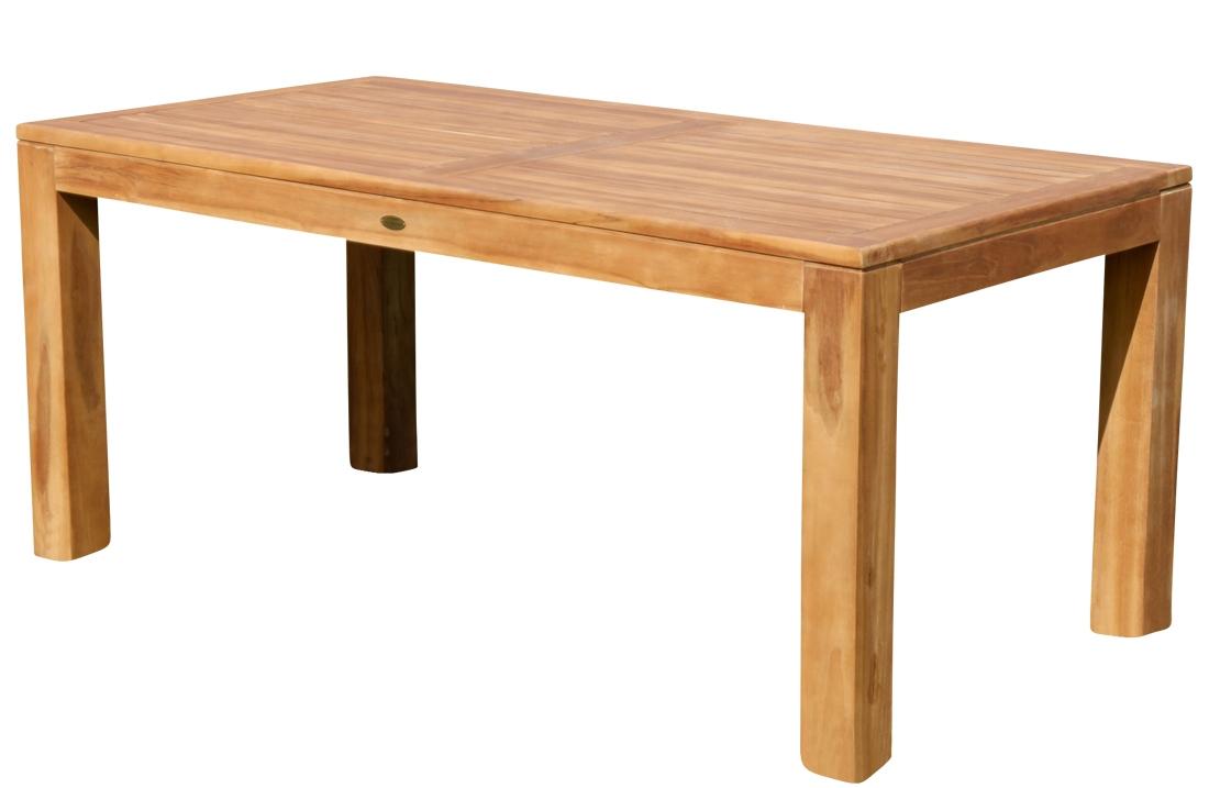 TEAK SET: Gartengarnitur Bigfuss Tisch 180x90 + 6 Kingston Sessel Serie JAV