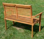 TEAK 2-Sitzer Gartenbank 120cm JAV-ALPEN - Bild 2