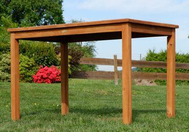 TEAK XL Gartentisch 120x70cm JAV-ALPEN – Bild 4