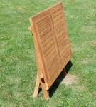 TEAK Ausziehtisch 100-140 x 80cm klappbar Holztisch Klapptisch Gartentisch Tisch aus Teakholz JAV-AVES-AUSZIEH-100/140 - Bild 2