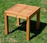 TEAK SET: Gartengarnitur Bigfuss Tisch 80x80 cm + 2 Sessel ALPEN Holz JAV - Bild 6