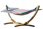 320cm Hängemattengestell BLANCA-CALETA aus Holz Lärche mit Stab Hängematte - Bild 1