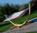 320cm Hängemattengestell BLANCA-CALETA aus Holz Lärche mit Stab Hängematte - Bild 11