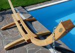 410cm XXL Hängemattengestell NATUR aus Holz Lärche - Bild 6