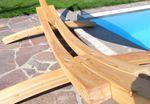 410cm XXL Hängemattengestell NATUR aus Holz Lärche - Bild 5