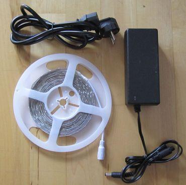 SET 12200 Lumen 10m Ultra-Highpower LED Streifen mit 600 2835 LED's warmweiß weiss superhell inkl. Netzteil 24V Pro-Serie TÜV/GS geprüft – Bild 5