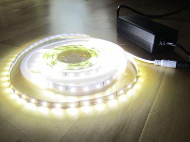 SET 12500 Lumen 10m Ultra Highpower Led Streifen mit 600 2835 LED's neutralweiß natur weiss naturweiß superhell inkl. Netzteil 24V (Pro-Serie) TÜV/GS geprüft – Bild 9