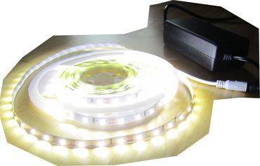 SET 12500 Lumen 10m Ultra Highpower Led Streifen mit 600 2835 LED's neutralweiß natur weiss naturweiß superhell inkl. Netzteil 24V (Pro-Serie) TÜV/GS geprüft – Bild 1