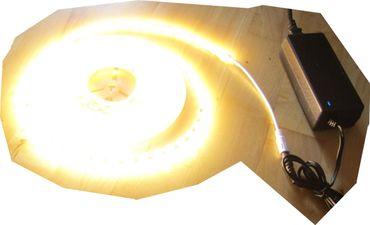 SET 12200 Lumen 5m X-Ultra-Highpower LED Streifen mit 600 2835 LED's warmweiß weiss superhell inkl. Netzteil 24V Pro-Serie TÜV/GS geprüft