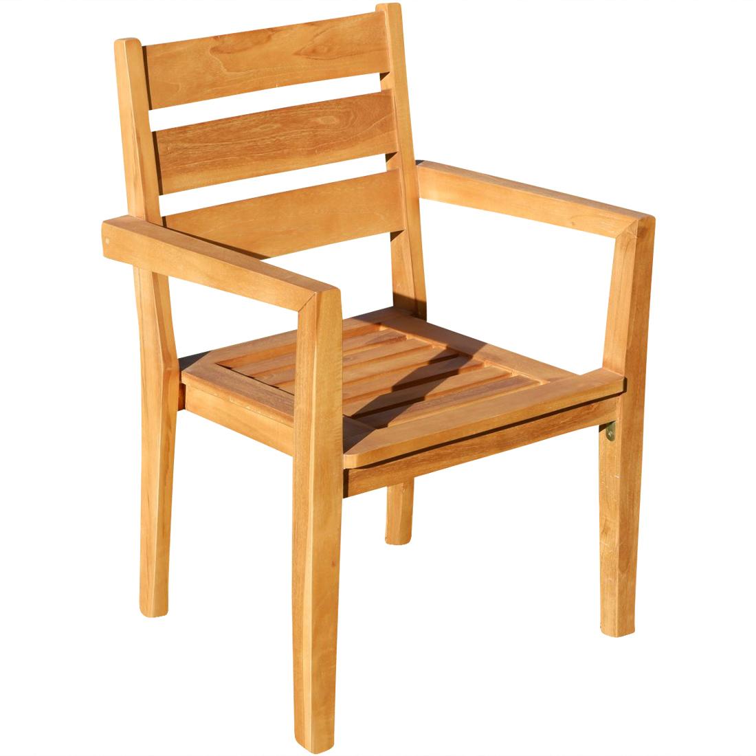 echt teak design gartenstuhl stapelstuhl jav kingston. Black Bedroom Furniture Sets. Home Design Ideas