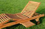 ECHT TEAK Sonnenliege Holzliege vielfach verstellbar mit Tisch sehr robust Modell: JAV-COZY - Bild 2