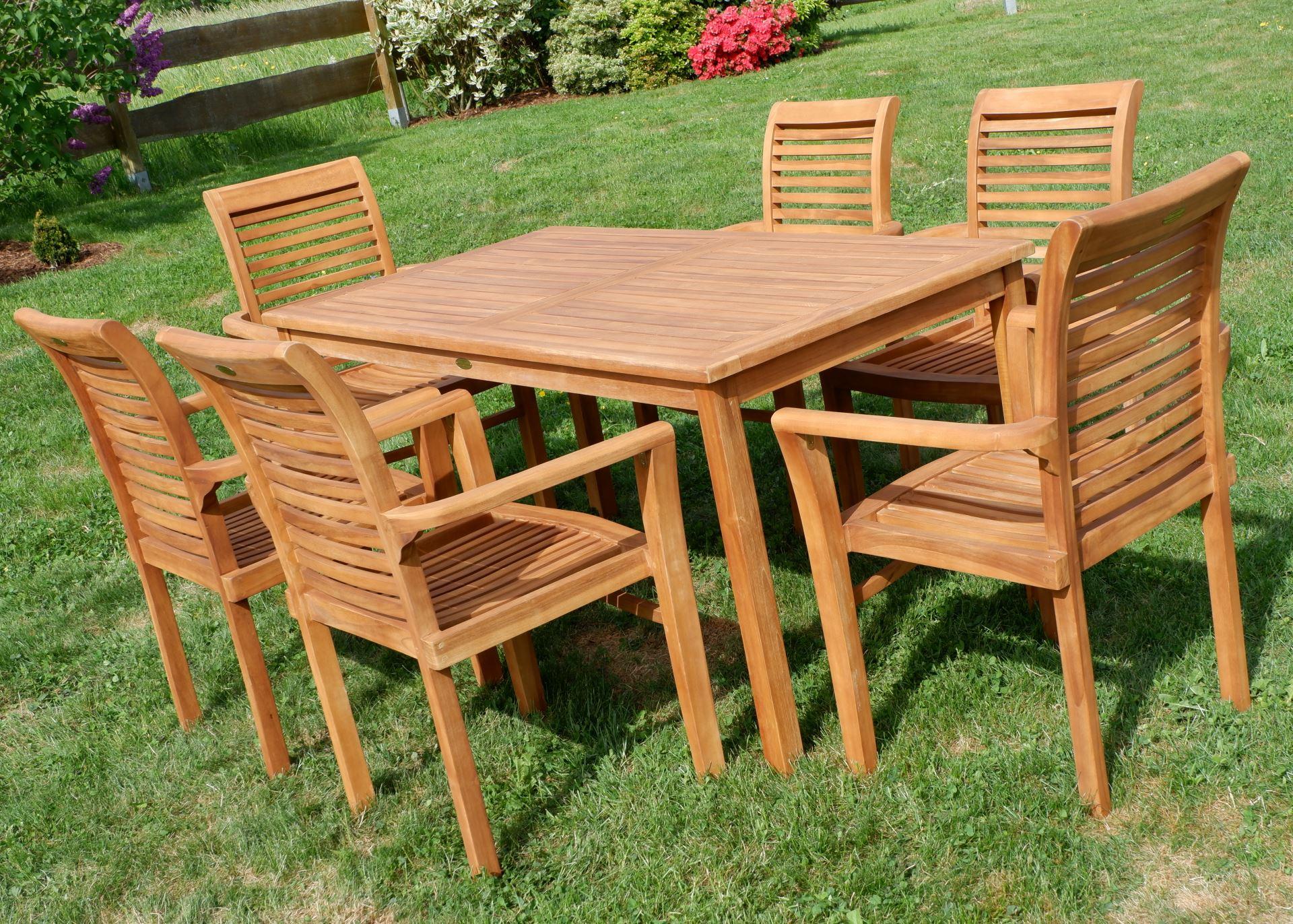 Tisch 150x80.Teak Set Gartengarnitur Alpen Tisch 150x80 6 Alpen Sessel Serie Jav