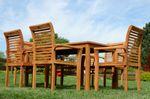 TEAK SET: Gartengarnitur Alpen Tisch 150x80 + 6 Alpen Sessel Serie JAV - Bild 2