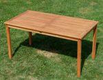 TEAK SET: Gartengarnitur Gartentisch 150x80 cm + 4 Alpen Sessel Holz JAV-ALPEN - Bild 4