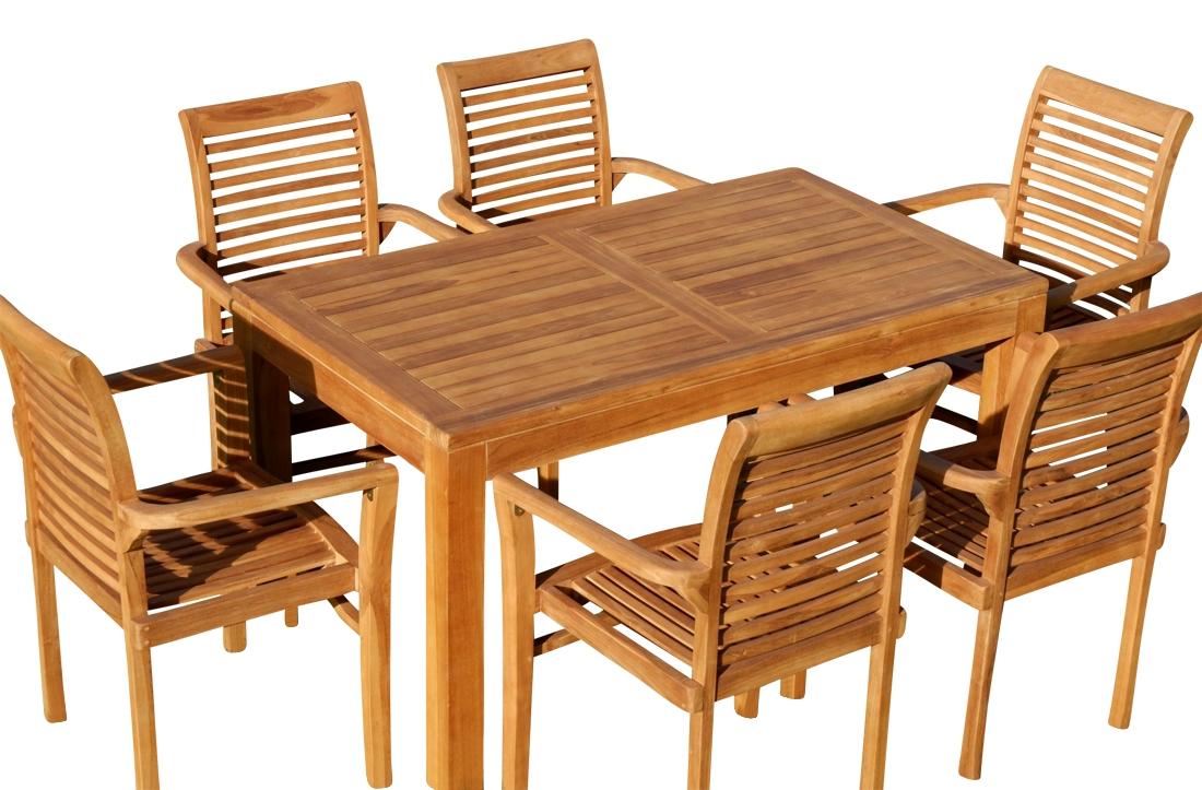 ECHT TEAK Design Gartenstuhl JAV-ALPEN sehr robust