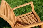 TEAK SET: Gartengarnitur Bigfuss Tisch 140x80 + 6 Alpen Sessel Serie JAV - Bild 7