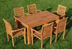 TEAK SET: Gartengarnitur Bigfuss Tisch 140x80 + 6 Alpen Sessel Serie JAV - Bild 2