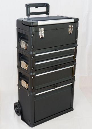 Metall Werkzeugtrolley XXL Type C1-B BLACK EDITION mit Schubladenverriegelung und Schloss – Bild 7