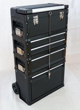 Metall Werkzeugtrolley XXL Type C1-B BLACK EDITION mit Schubladenverriegelung und Schloss – Bild 3