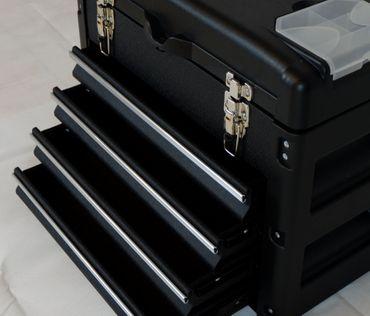 METALL Werkzeugkiste mit 8 Funktionen WK1-B BLACK EDITION  – Bild 7