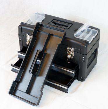 METALL Werkzeugkiste mit 6 Funktionen WK2-B BLACK EDITION  – Bild 6
