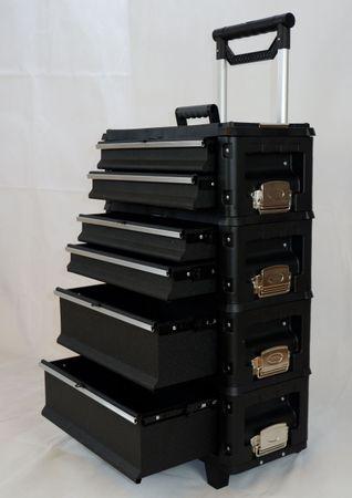 Metall Werkzeugtrolley Type B4-B BLACK EDITION mit Schubladenverriegelung und Schloss – Bild 5