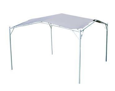 Eleganter Gartenpavillon Pavillon Sonnensegel 3,5x3,5m Meter, 12,25m², Dach aus Polyester UV50+ Modell: IBIZA
