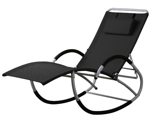 liegestuhl schwingstuhl schaukelstuhl schaukelliegestuhl mit atmungsaktiven kunststoffgewebe. Black Bedroom Furniture Sets. Home Design Ideas