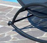 Doppel Schaukelliege Sonnenliege aus atmungsaktivem Kunststoffgewebe mit Kopfpolster und Dach ergonomisch geschwungen Modell: IOS - Bild 8