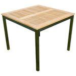 Edelstahl Teak Gartentisch 90x90 cm Holztisch Esstisch Tisch massive Ausführung A-Grade Teakholz KUBA  - Bild 4