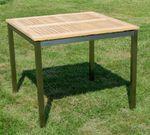 Edelstahl Teak Gartentisch 90x90 cm Holztisch Esstisch Tisch massive Ausführung A-Grade Teakholz KUBA  - Bild 3
