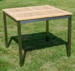 Edelstahl Teak Gartentisch 90x90 cm Holztisch Esstisch Tisch massive Ausführung A-Grade Teakholz KUBA  - Bild 9