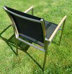 Gartengarnitur Edelstahl Teak Set: Tisch 90x90 cm + 2 Sessel Serie KUBA-SCHWARZ - Bild 4