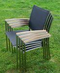 Gartengarnitur Edelstahl Teak Set: Tisch 160x90 cm + Tisch 90x90 + 8 Sessel Serie KUBA-SCHWARZ - Bild 11