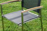 Gartengarnitur Edelstahl Teak Set: Tisch 160x90 cm + Tisch 90x90 + 8 Sessel Serie KUBA-SCHWARZ - Bild 12