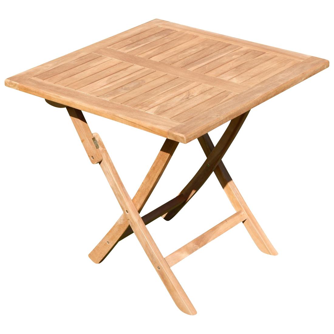 Klapptisch Für Garten.Echt Teak Klapptisch Holztisch Gartentisch Garten Tisch 80x80 Cm Jav Aves Holz