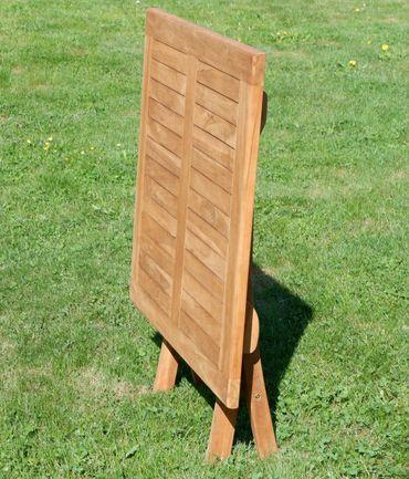 ECHT TEAK Klapptisch Holztisch Gartentisch Garten Tisch 80x80 cm JAV-AVES Holz – Bild 5
