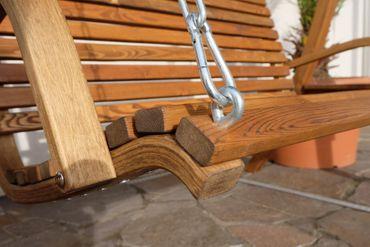 Design Hollywoodschaukel RIO GRÜN aus Holz Lärche mit Dach – Bild 4
