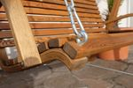 Design Hollywoodschaukel RIO GRÜN aus Holz Lärche mit Dach - Bild 7