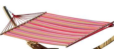 Hängematte 150x200cm BUNT gestreift aus Baumwolle Modell: ALICIA