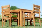 TEAK SET: Gartengarnitur Bigfuss Tisch 80x80 + 4 Kingston Sessel Serie JAV - Bild 3
