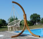 DESIGN Hängesessel NAV-CRUZ mit Gestell  aus Holz Lärche komplett mit Hängesessel - Bild 5