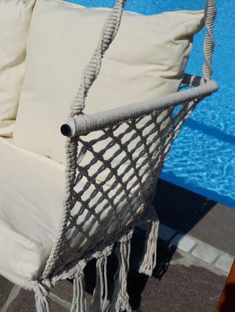 Design Hollywood Schaukel mit Sitzbank Waikiki aus Holz Lärche – Bild 3