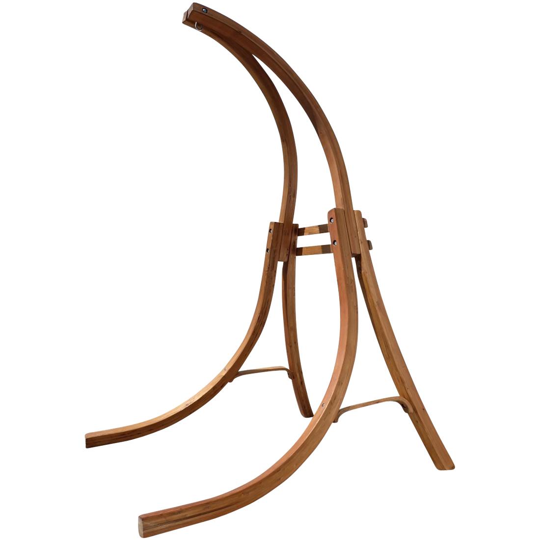 Hängesessel mit Gestell aus Holz Lärche Modell: CAT-CRUZ komplett mit Stoffsessel
