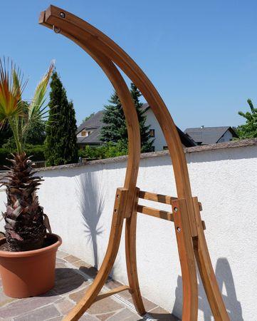 Hängesesselgestell aus Holz Lärche (Gestell ohne Sessel) Modell Catalina HCL – Bild 7