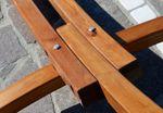 350cm Hängemattengestell aus Holz Lärche ohne Hängematte (nur Gestell) komplett mit Schrauben - Bild 3
