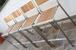 BAR-SET - EDELSTAHL TEAK Bartisch Bistrotisch 60x60cm mit 4x Barhocker Modell: MEXIKO - Bild 5